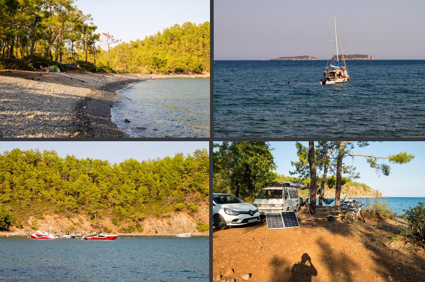 Фотография 10. Райская бухта Аладжасу-кою (Alaçasu Koyu), расположенная рядом с поселком Текирова (Тekirova). Куда не стоит ехать, отдыхая в Кемере или Чиралы?