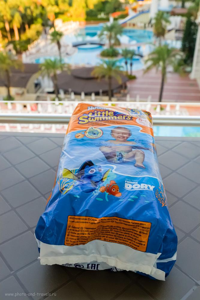 34. Памперсы «Huggies Little Swimmers» для комфортного купания вашего ребенка. Что взять с собой в отпуск на море? 1/250, 8.0, 3200, 23.