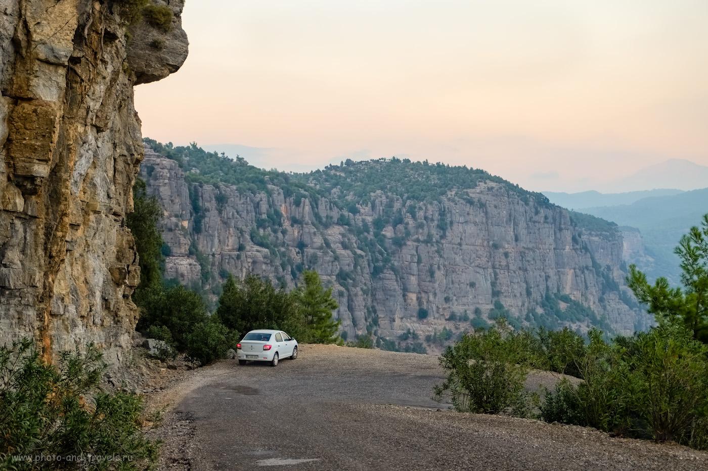 Фотография 16. Дорога от моста Олук (Oluk Köprü) в каньоне Кёпрюлю (Köprülü Kanyon) до руин Сельге (Selge) и деревни Алтынкая (Altınkaya) – одна из самых красивых в Анталии. Вид на устье каньона Тазы (Tazı Kanyonu). 1/170, 2.8, 320, -0.33, 34.