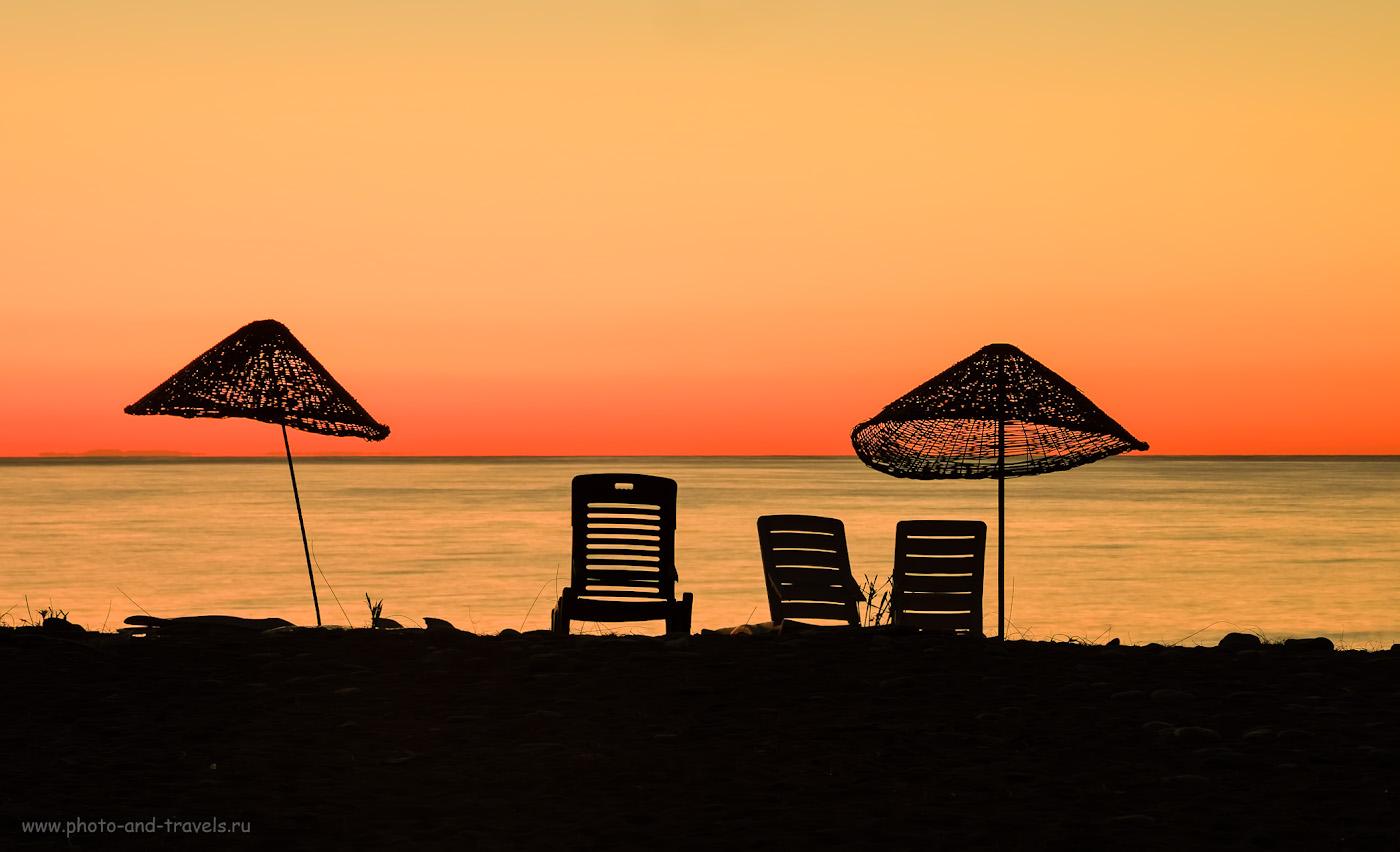 Фотография 18. Минимализм на пляже Чиралы – особенность раннего утра. 2.1, 7.1, 200, +1.0, 55.