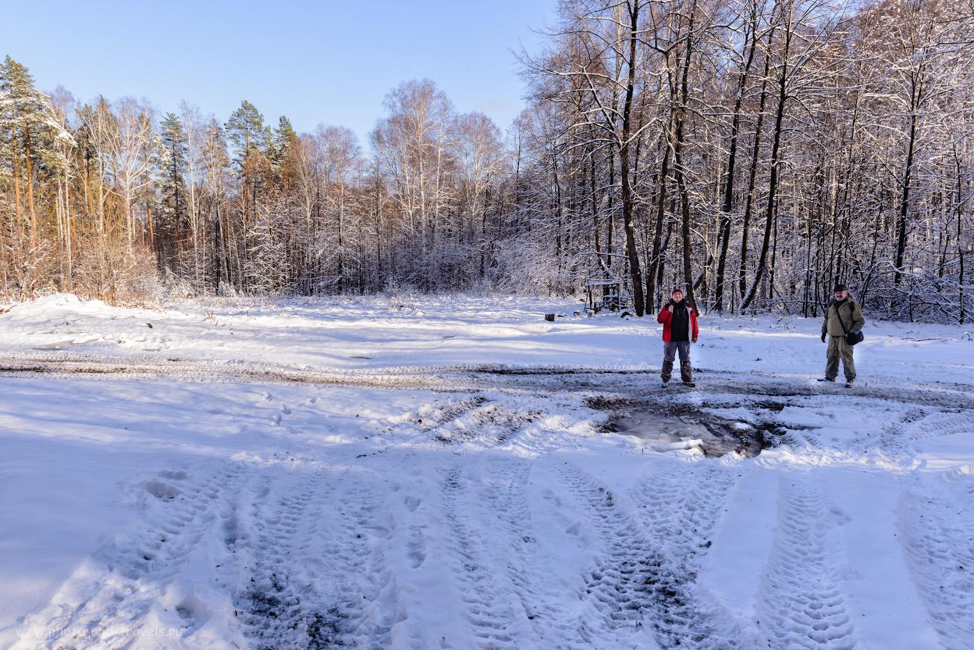Фотография 6. Вид с тропы на поляну. Как мы искали очередную достопримечательность Челябинской области.