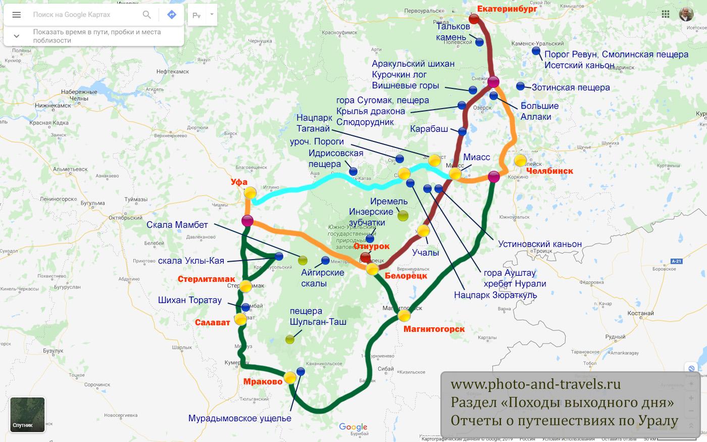 4. Схема проезда в хутор Отнурок, в котором расположена турбаза «Малиновка» и начинается подъем на гору Малиновая (третья и вторая вершина).