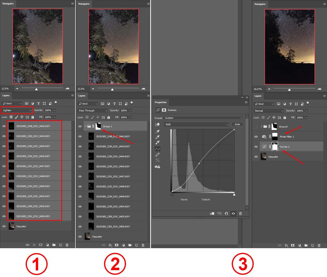 Фото 25. Обработка ночных кадров в «Photoshop».