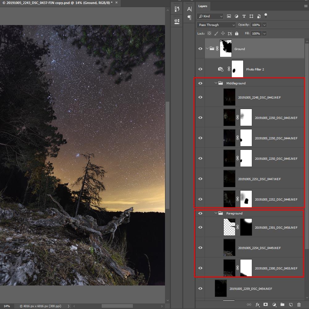 Фотография 26. Обработка ночных кадров в «Adobe Photoshop».