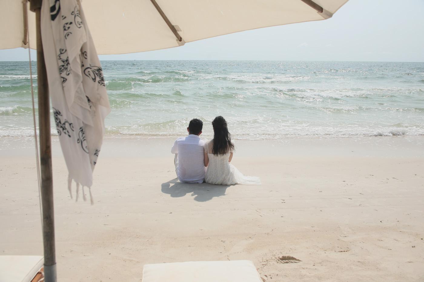 Фото 9. Влюблённая парочка на пляже Бай Сао острова Фукуок. 1/500, 10.0, 250, 80.