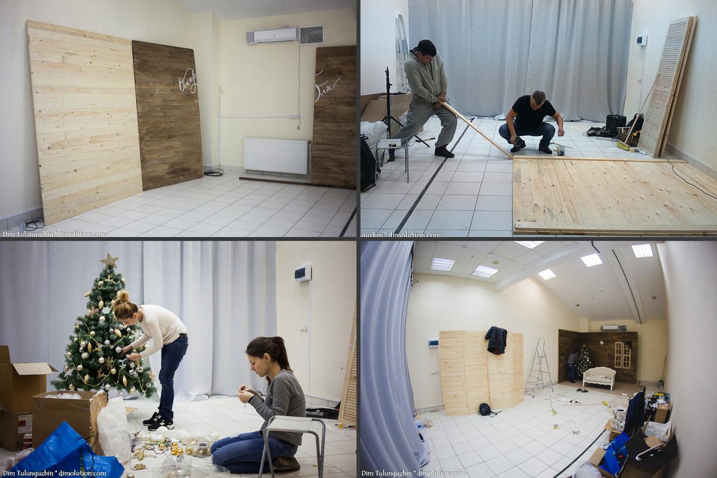 5. Как оформляли фотостудию профессиональные декораторы.