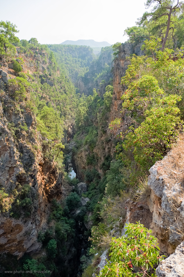 Фотография 3. Вид направо со смотровой площадки каньона Гювер Учуруму. Отзыв о поездке на экскурсию из Анталии самостоятельно. 1/250, 2.8, 200, -0.33, 16.
