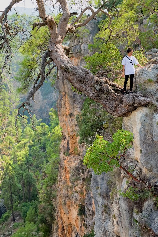 11. Зачем ехать в каньон Гювер Учуруму из Анталии? Наверное, за таким вот портретом на фоне природы. Отдых в Турции самостоятельно и путешествие по интересным местам на автомобиле. 1/100, 6.4, 640, -0.33, 38.