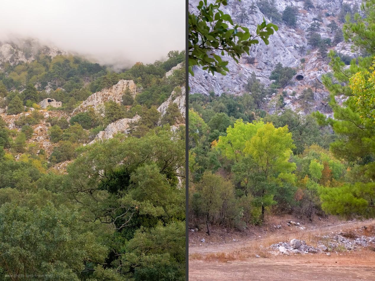 18. Развалины на склонах гор рядом с Термессосом. Какие интересные места посмотреть на машине, выехав из Анталии?