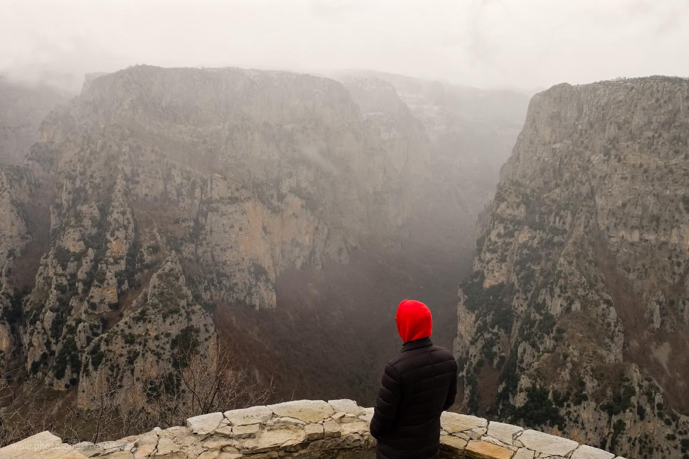 Фотография 27. Каньон Викос в Греции впечатляет не меньше, чем Тазы в Турции. 1/100, 8.0, 500, -0.33, 20.