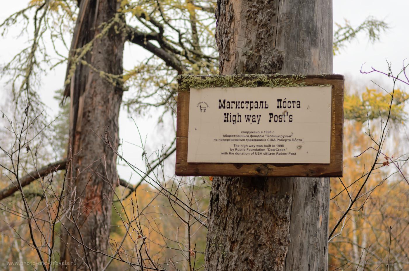 """Фото 10. Содержать парк помогали даже иностранцы. Тропа """"Магистраль Поста"""". 1/320, 4.0, -1.0, 250, 55."""