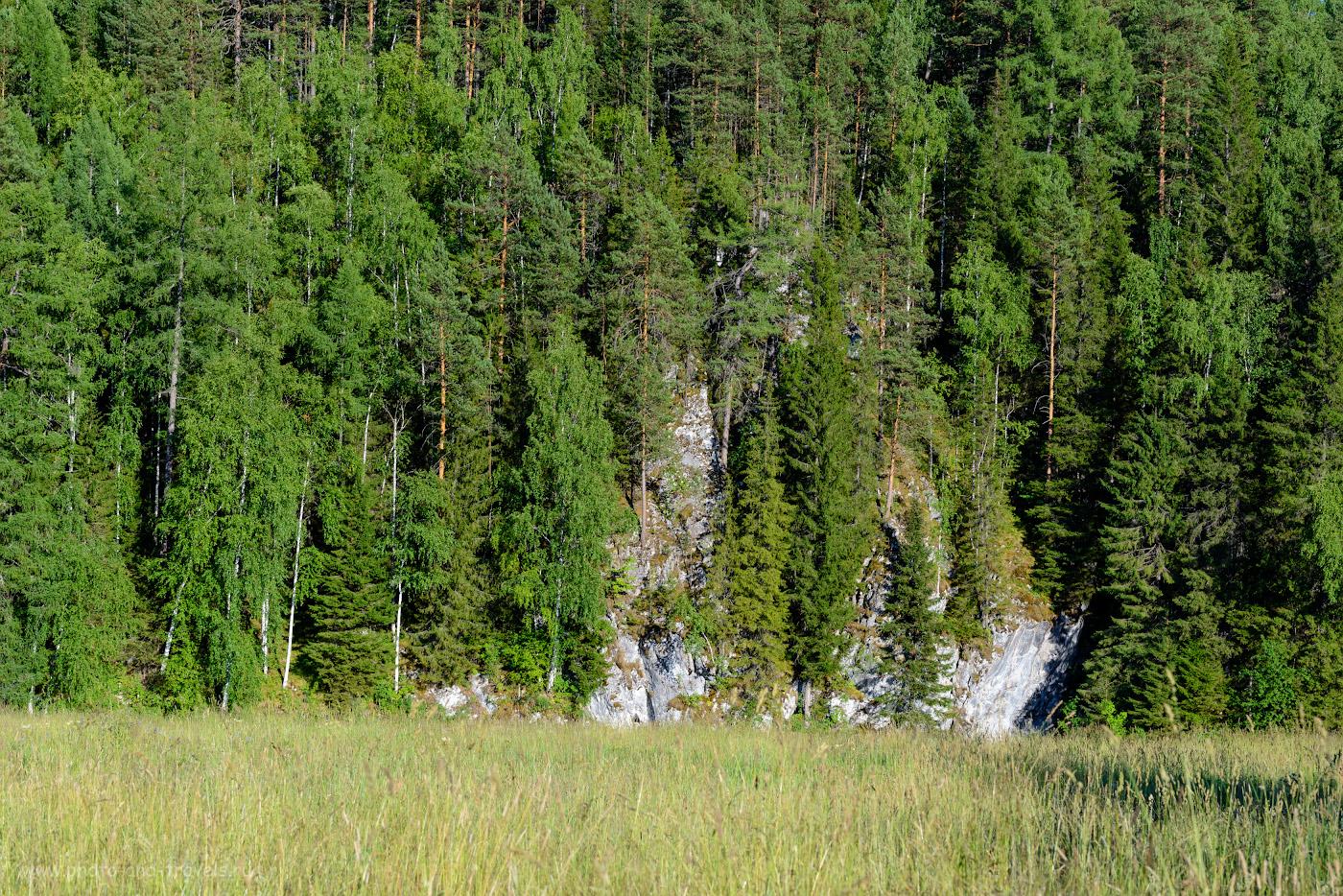 12. «Малая» скала около брода через реку Серга по пути к Аракаевской пещере. 1/200, 10.0, -0.67, 86.