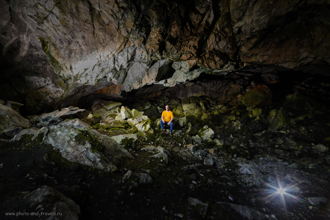 24. Попытка снять натуральный портрет в гроте Большой Аракаевской пещеры. 1/50, 5.6, 1000, -1.0, 14.