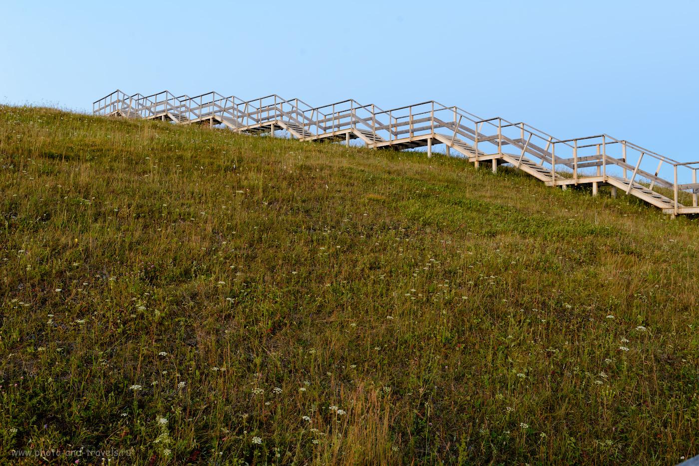 Фото 35. Лестница к смотровой площадке на Аракаевской скале. 4 сек., f/8/0, 100, +1.0, 35.