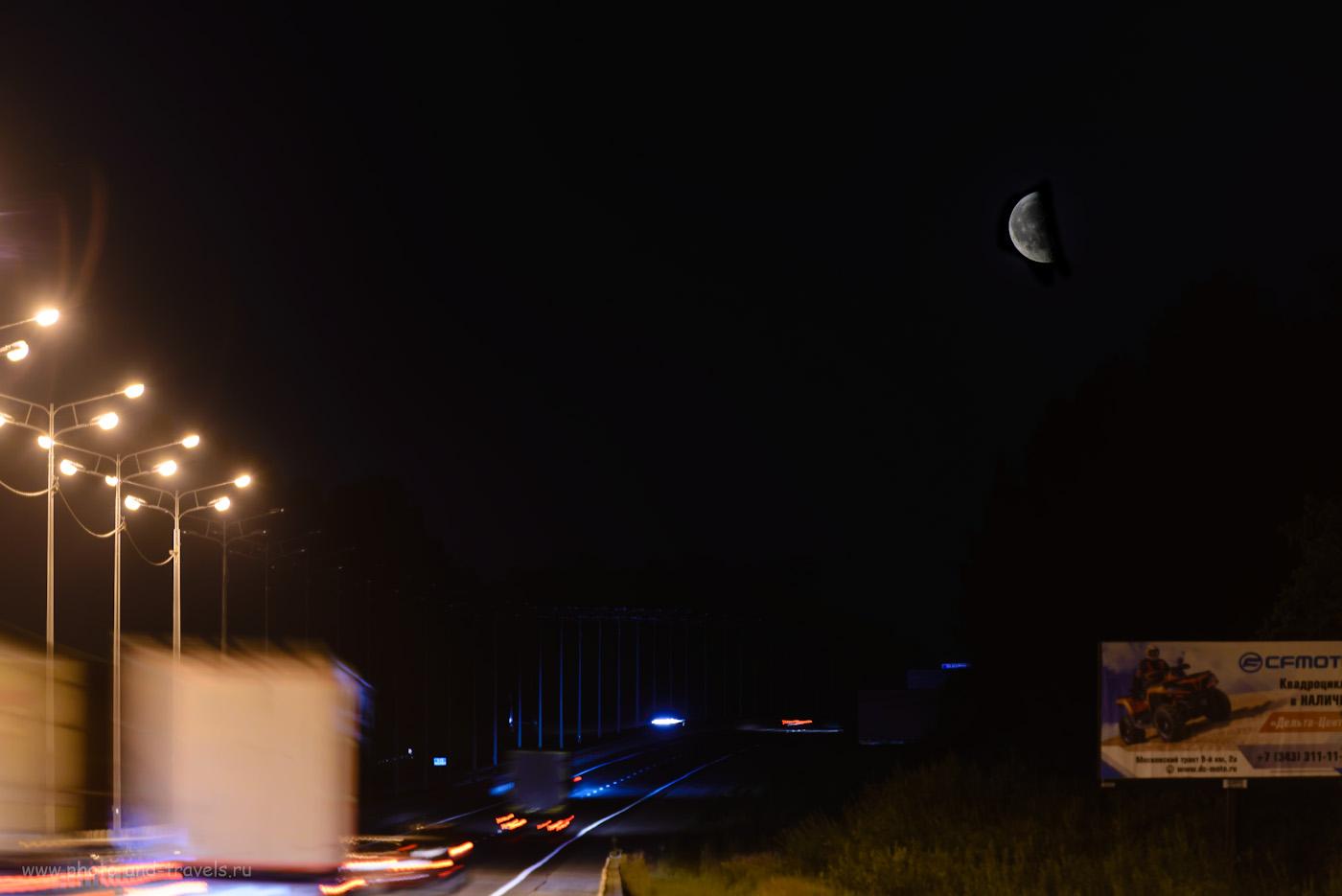 38. В это путешествие выходного дня на машине в Оленьи ручьи я не только в пещере побывал, но и умудрился поснимать луну.