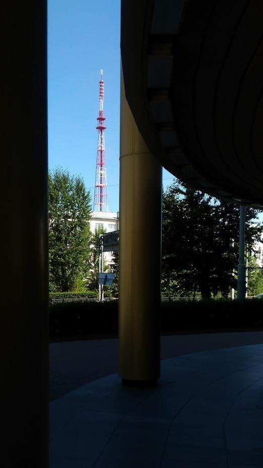 13. Натуральная рамка в фотографии, образованная колоннами здания.