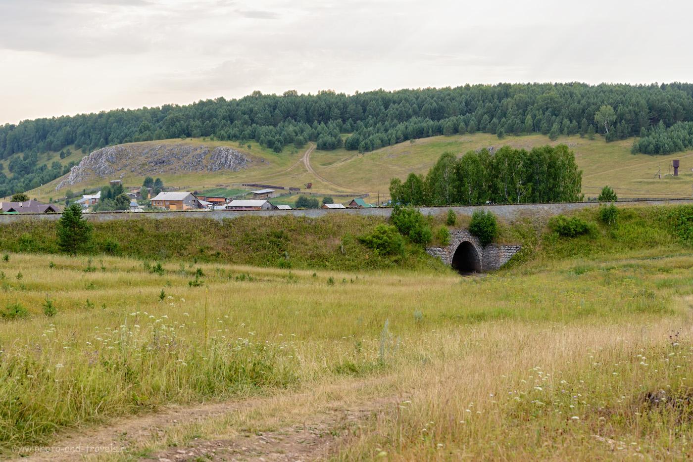 Фото 4. Вид на туннель под железной дорогой в сторону Аракаево. 1/200, 7.1, 280, -0.67, 86.