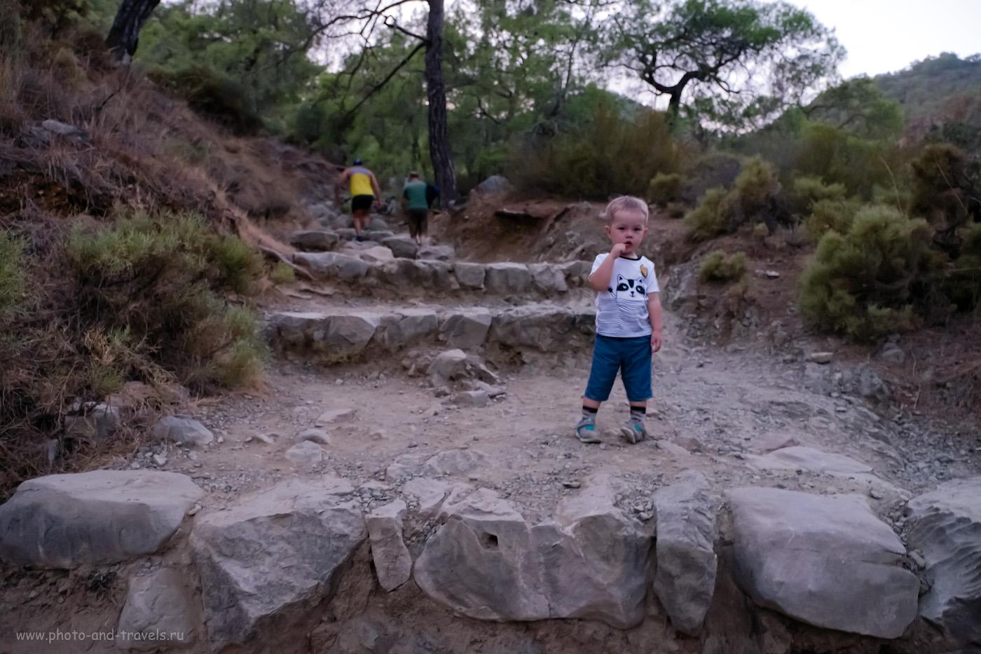 2. Так выглядит тропа на гору Химера в поселке Чиралы. Отзыв о восхождении с маленьким ребенком. 0.13, 2.8, 3200, +0.33, 16.
