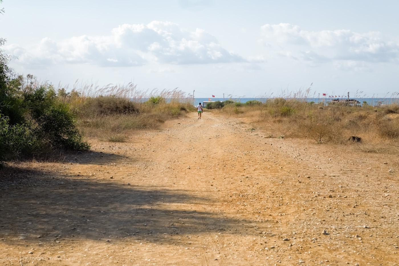 Фотография 10. Так выглядит дорога на Восточный пляж Сиде от отеля Irem Garden Apartments. 1/400, 8.0, 200, +0.67, 55.