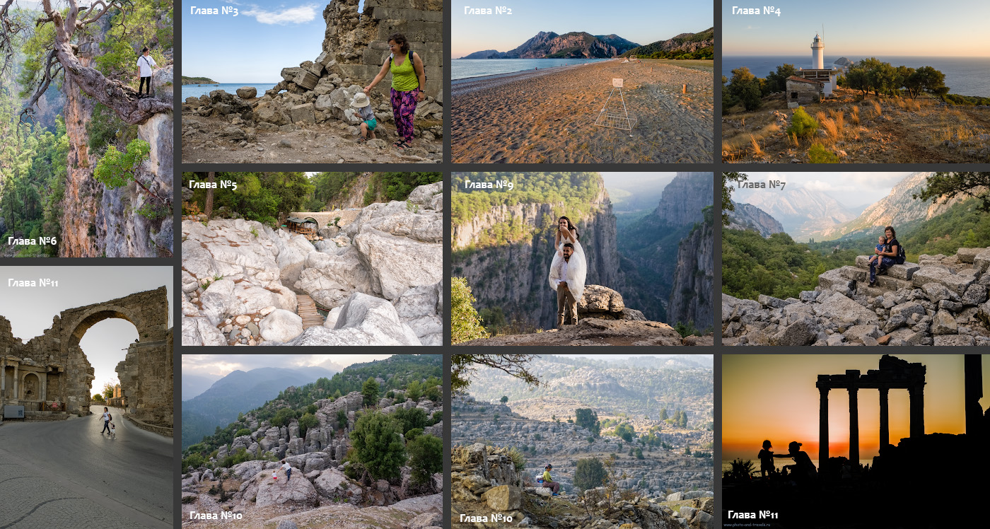 39. Какие красоты можно посетить самостоятельно, отдыхая в Анталии или в Кемере (описание – в отчете за 2019 год).