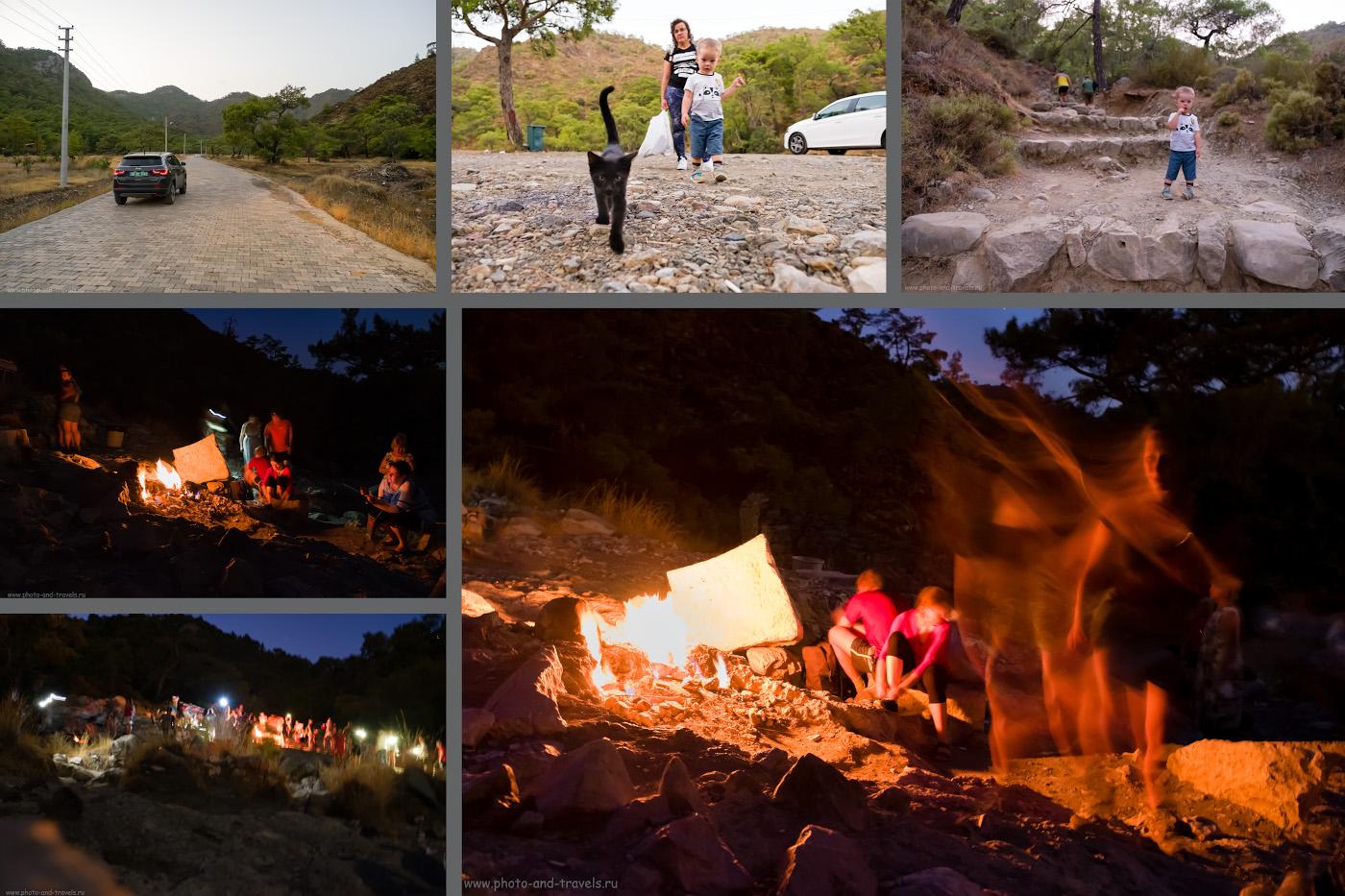 Фото 8. Пламя Химеры на горе в Чиралы. По-английски это место называется «Mount Chimaera», по-турецки Янарташ (Yanartaş). Отзывы туристов о самостоятельной экскурсии.
