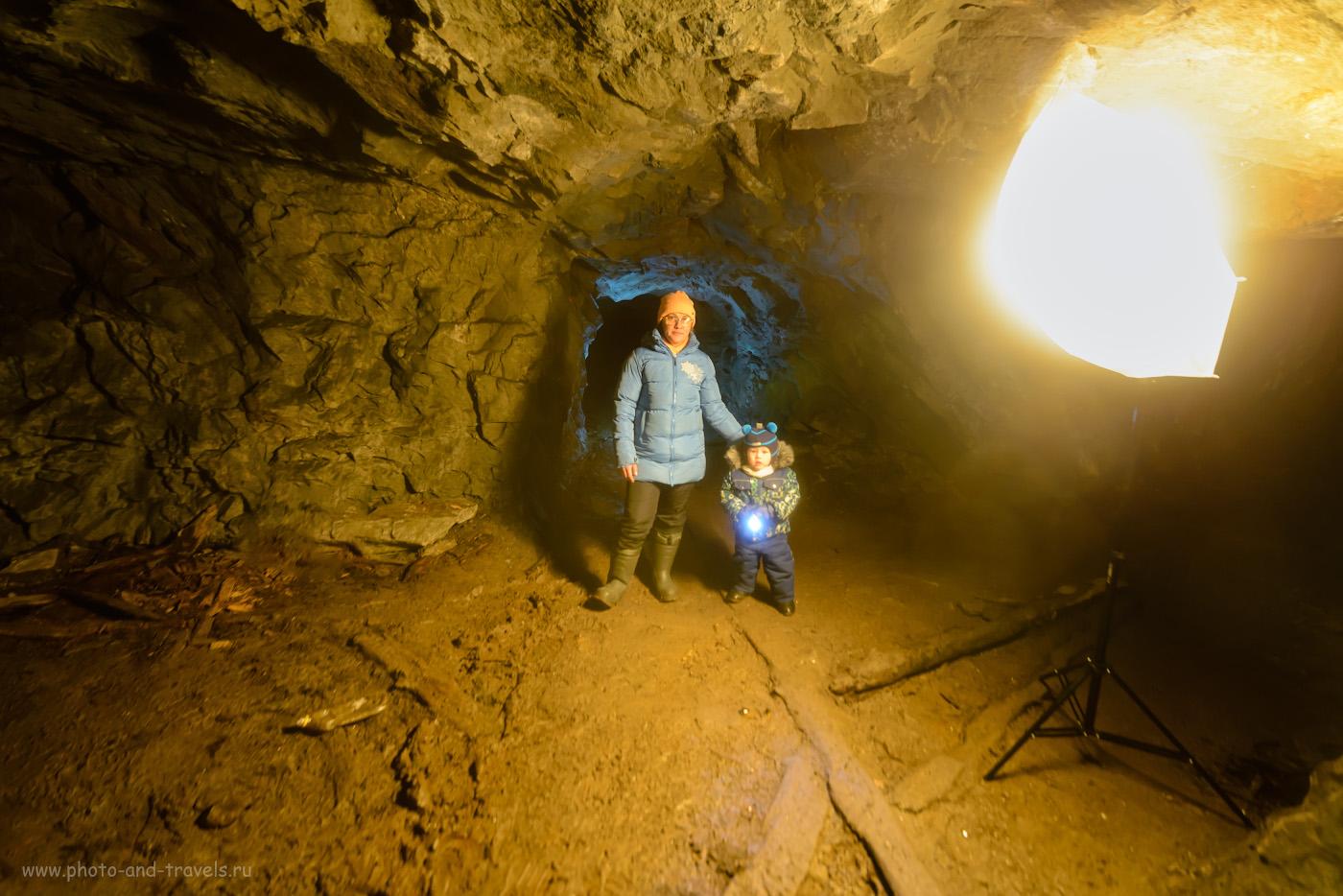 Фото 15. Как я фотографировал в шахте, освещая сцену вспышкой. 1/30, 2.8, 1600, +0.33, 14.