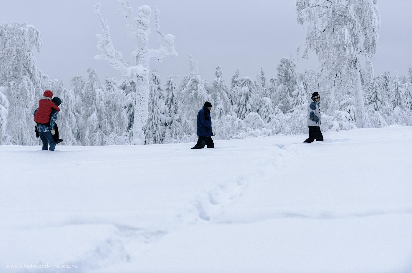 10. Туристы идут со смотровой площадки «Белые камни» в окрестностях города Гремячинск. 1/320, 2.8,100, +1.33, 85.