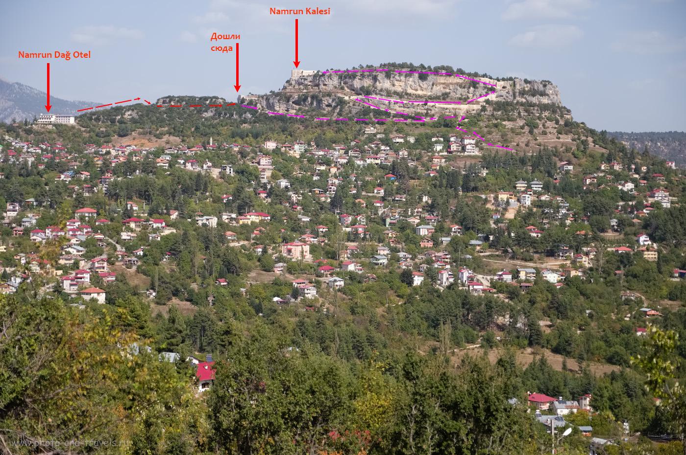 Фотография 25. Замок Намрун (Namrun Kalesi), что высится над городком Чамлыяйла в провинции Мерсин в восточной части Средиземного моря Турции. 1/4000, 2.8, 200, -0.33, 48.