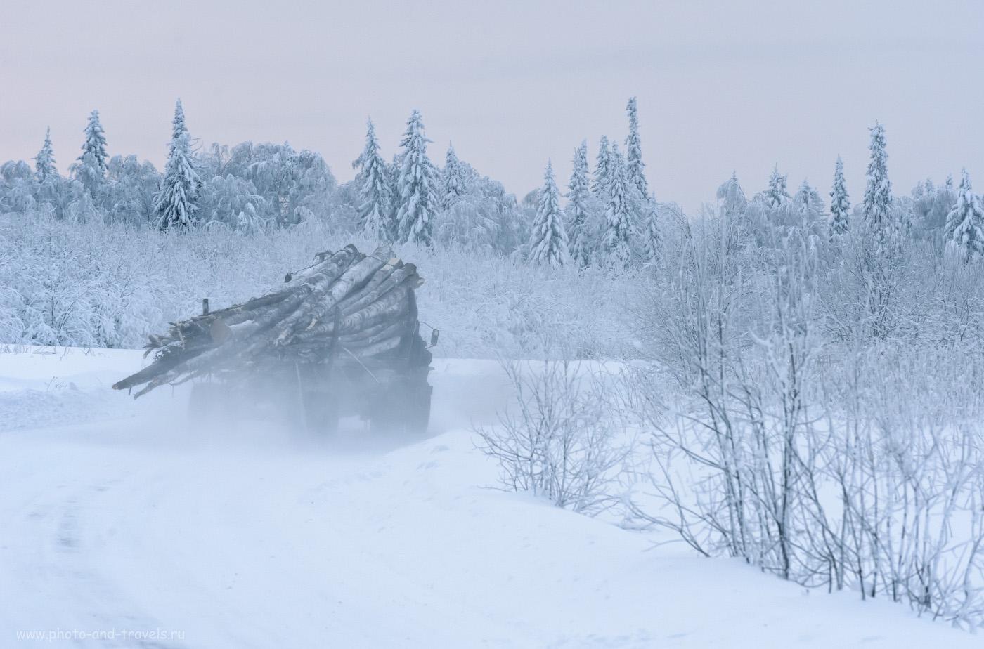 Фото 3. Лесовоз в уральской тайге. Добираемся в село Кын-Завод. 1/400, 8.0, 1600, +0.67, 200.