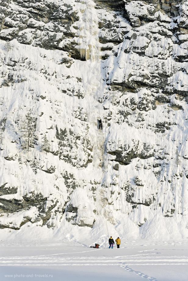 15. Скалолазы на ледопаде камня Высокий. Отзывы об экскурсии в окрестностях села Кын-Завод. 1/500, 5.6, 160, +0.67, 78.