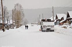 Kak vygljadit derevnja zimoj